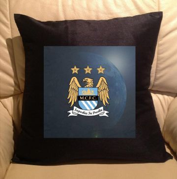 Manchester city, sofa cushions